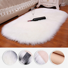 Carpet-Fur Area-Rug Sheepskin Bed-Room Home-Decor Long-Hair Fluffy Thick And Solid