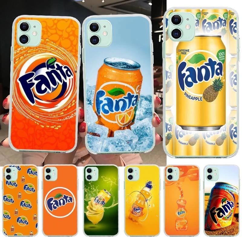 NBDRUICAI Fanta boisson Orange coque souple coque de téléphone Capa pour iPhone 11 pro XS MAX 8 7 6 6S Plus X 5S SE 2020 XR couverture