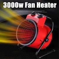 3000W Industrial Electric Heater Fan Adjustable Commercial Warm Heater Blower Air Workshop Space Garage Heating Appliances