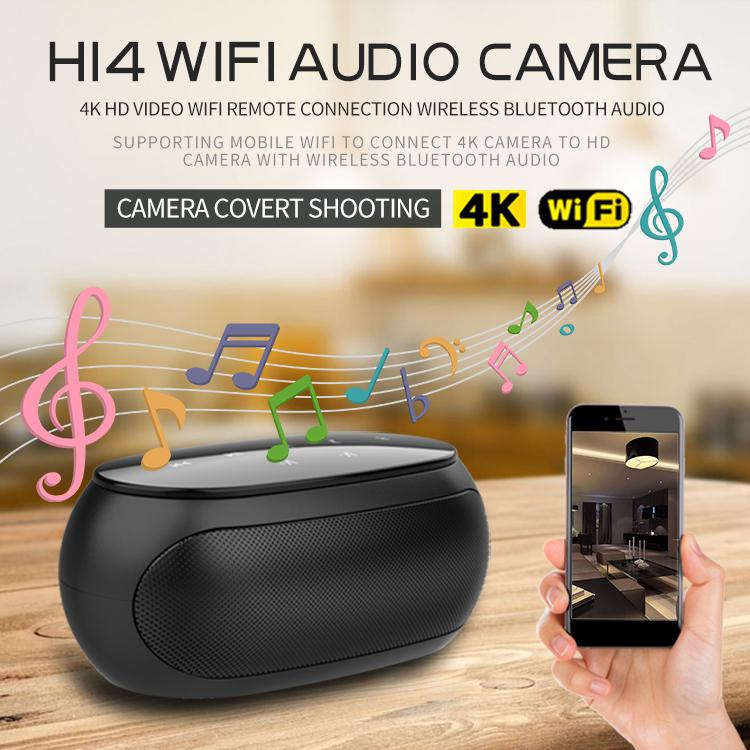 Kuulee HD WIFI H14 Security With Night Vision Camera Wireless IR Bluetooth Portable Outdoor Speaker Loop Alarm Video 4096×2160