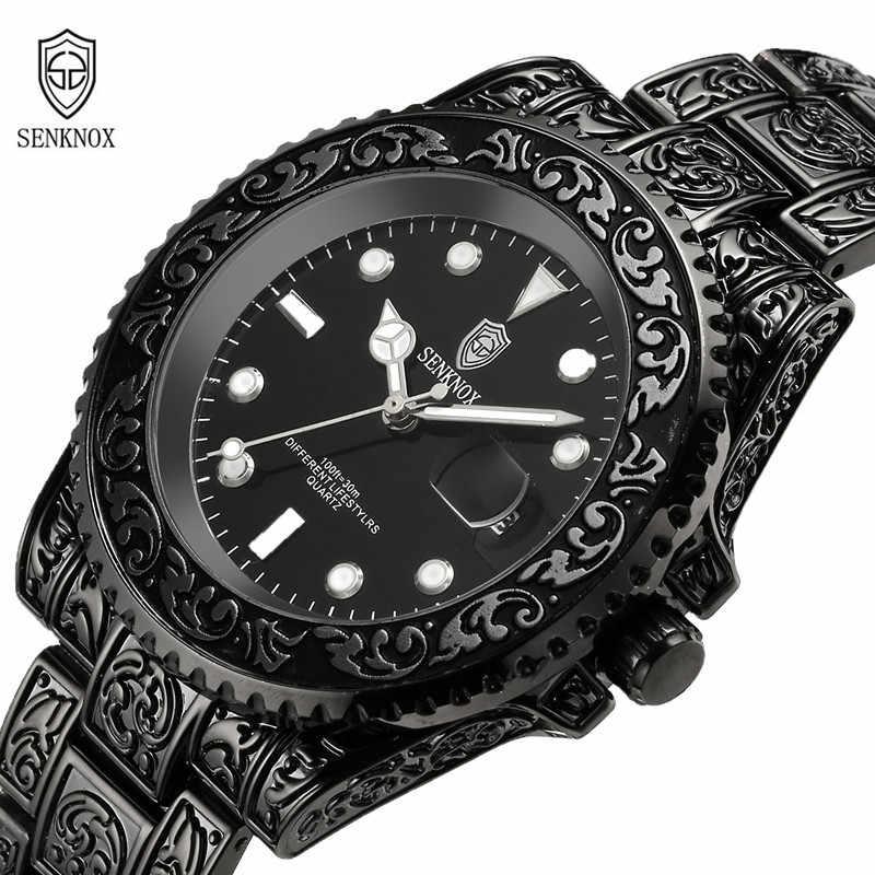 מותג גברים של שעונים ברונזה פלדת רצועת בציר קלאסי קוורץ צבאי ספורט שעוני יד מתנת שעון Zegarek Meski Erkek Kol Saati