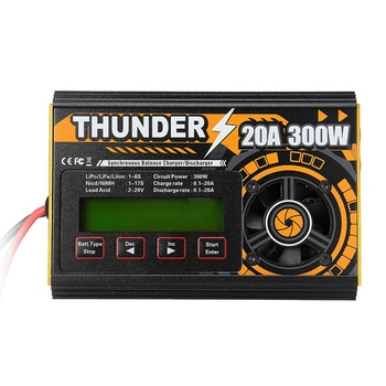 HOTA Thunder 300W 20A DC Balance Charger Discharger for LiPo NiCd PB Battery