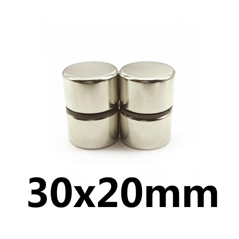 1/2/3/5 шт. 30x20 мм мощный цилиндрический Редкоземельный Магнит 30 мм х 20 мм Круглые неодимовые магниты 30 х 20 мм большой магнит диск 30 х 20 мм N35