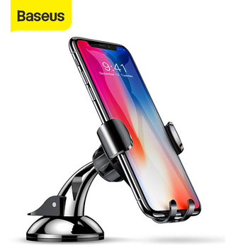 Baseus Gravity Car Phone Holder For iPhone11 XS Max Dashboard Sucker Phone Holder Stand in Car Sucking Mobile Phone Holder