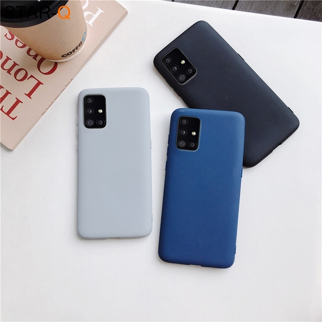 candy color silicone phone case for samsung galaxy a51 a71 5g a31 a11 a41 m51 m31 a21s a91 A81 A01 matte soft tpu cover 5