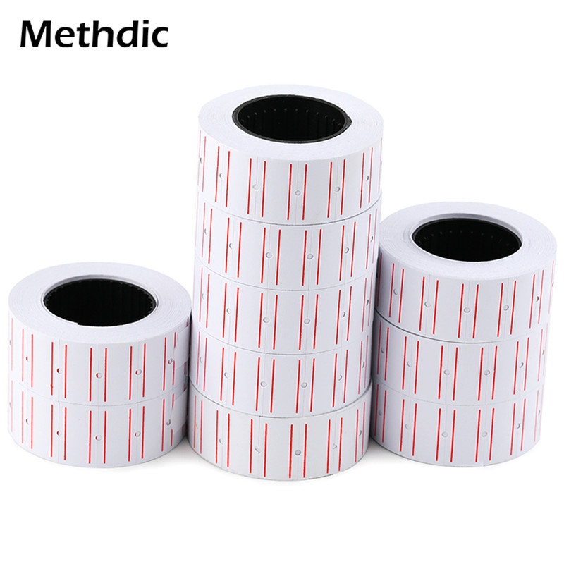 Methdic 10 Rolls/set Price Label Stickers Roll For Supermarket