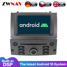Android 10 dsp ips hd экран для peugeot 407 2004 2005 2006 2007