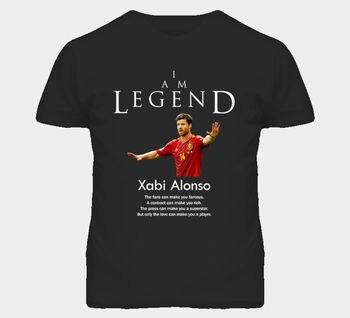Xabi-camiseta de fútbol de la leyenda de España, camiseta de manga corta...