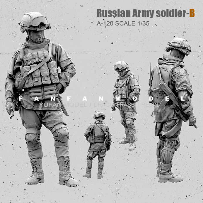 1/35(5Cm) Resin Figure Kits Russian Modern Special Forces Soldier Self-assembled  A-120