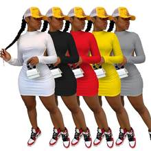 Sonbahar kadın elbise Backless uzun kollu Mini elbiseler parti gece Clubwear katı 5 renk vestidos