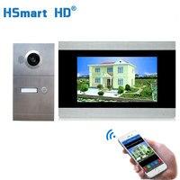 WiFi IP Video Door Phone Video Intercom 7'' Touch Screen Aluminum Outdoor Unit With View Angle IR Camera Video Intercom Villa