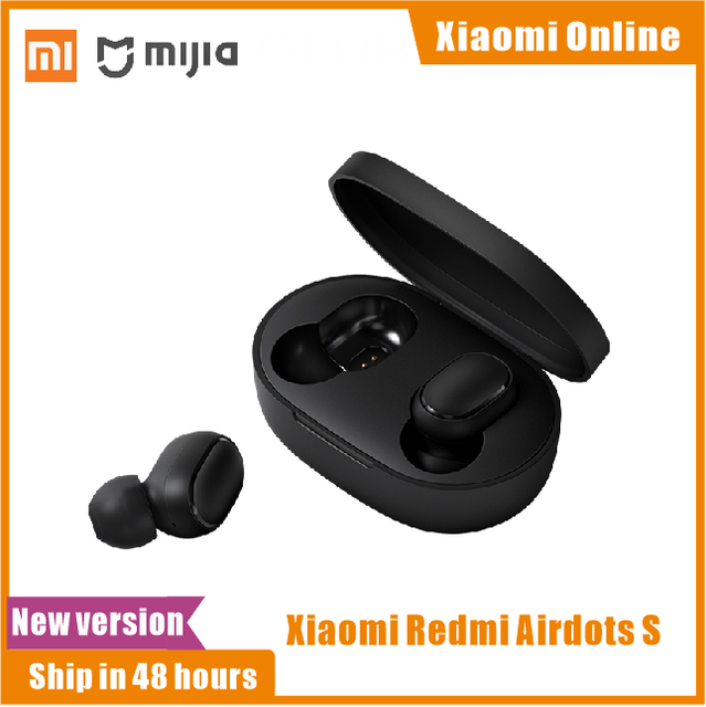 2020 In Stock New Xiaomi Redmi AirDots S Left Right Low Lag Mode Mi Redmi AirDots 2 TWS Bluetooth Earphone Pro BT5.0 TWSEJ05LS
