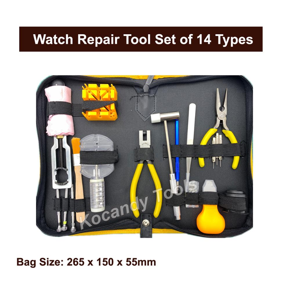 Watch Repair Tool Set of 14 types for Case Opening Spring Bar Remover etc