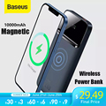 Baseus Power Bank 10000mAh Drahtlose Ladegerät PD 20W Schnelle Ladegerät Externe Batterie Tragbaren drahtlosen lade Für iPhone12 Serie