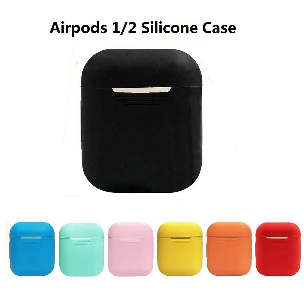 Soft Silicone Case Earphones For Apple Airpods 1 2 Bluetooth Wireless Earphone Protective Cover For Air Pods 2 Ear Pods Case