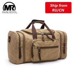 MARKROYAL мужские Холст Путешествия Вещевой мужской большой ёмкость дорожные сумки путешествия переносная сумка-тоут на Crossbody сумка ночь