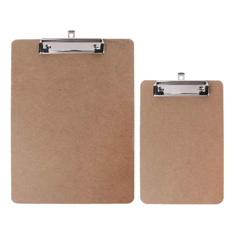 Portable A4/A5 Wooden Writing Clip Board File Hardboard with Metal Vertical Clips for Office School Stationery Supplies