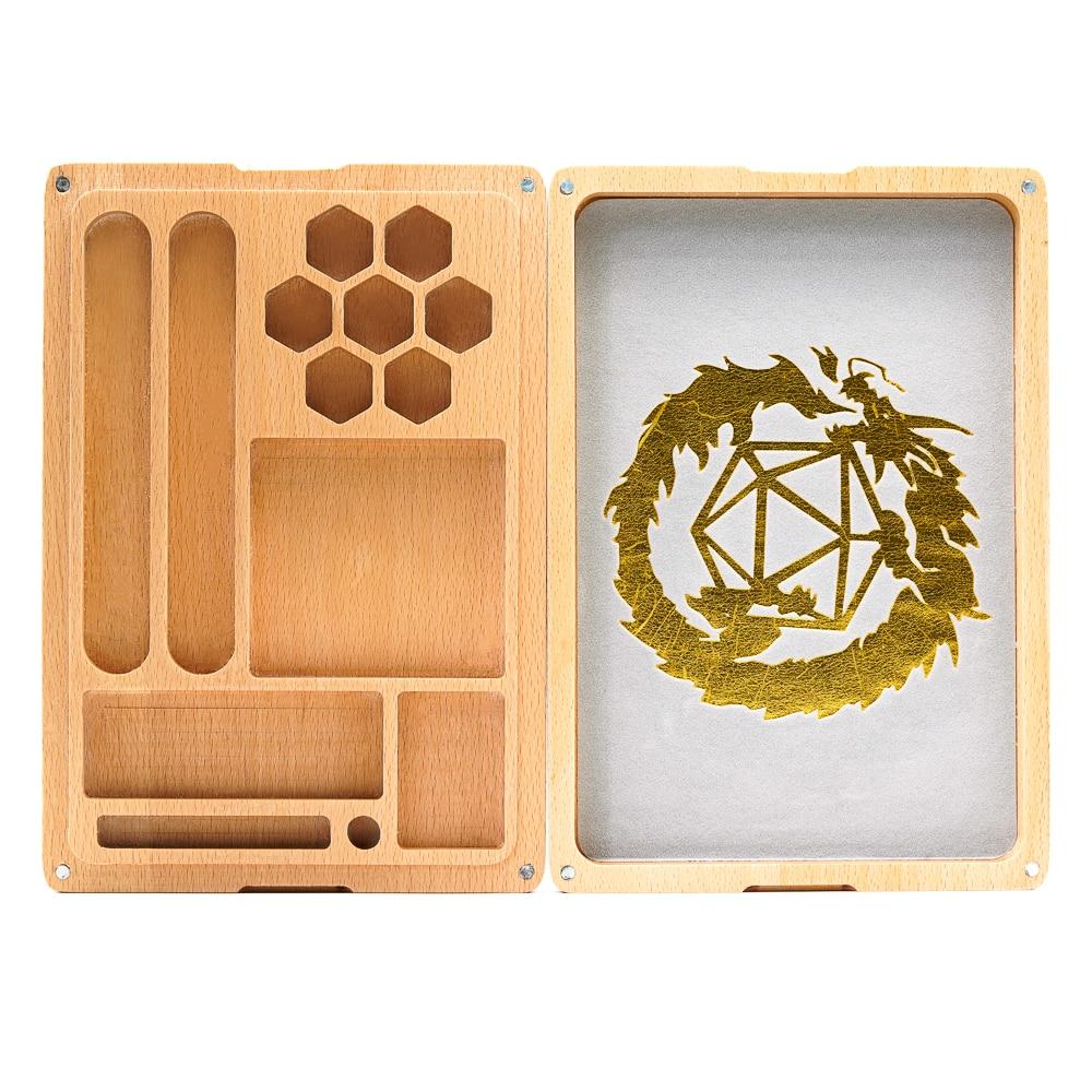 Многофункциональный Деревянный чехол для кости и лоток для кости, держатель для игральные кости DND набор, D & D, RPG, настольные игры