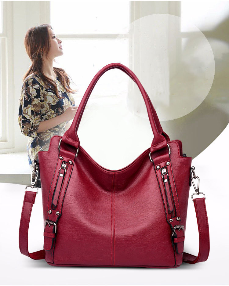Women's Genuine Leather Handbags 2020 Black Bag Women Shopping Bag Women's Big Shoulder Bag Genuine Leather
