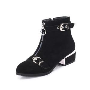Image 2 - MORAZORA 2020 nuovi stivali di arrivo caviglia per le donne fibbia zip punta rotonda stivali autunno inverno ufficio vestito da modo scarpe femminili