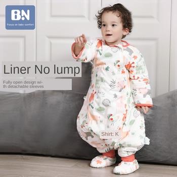 Four Seasons Gauze Sleeping Bag Children's Thin Type for Spring Universal Summer Baby  Big Children's Legs