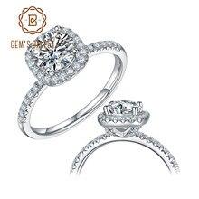 Bague de fiançailles en diamant Moissanite, en argent Sterling 925, bague de fiançailles, diamant Moissanite, 1Ct VVS1, bijoux de mariage
