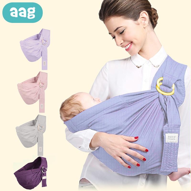 AAG Adjustable Baby Carrier Sling Wrap Ergonomic Baby Carrier Kangaroo Backpack Hipseat Sitter Newborn Breastfeeding Carriers