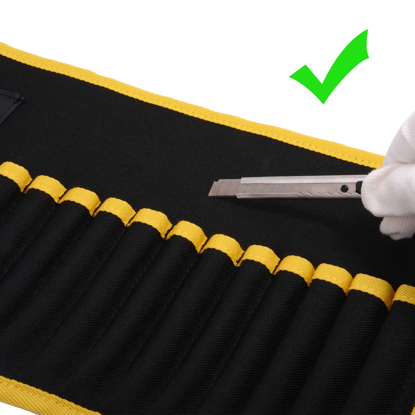 FOSHIO 32PCS Auto Fenster Tönung Werkzeuge Kit Magnetische Rakel + Magnet Tasche Auto Tönung Schaber Carbon Faser Vinyl Film wrap Werkzeuge Set