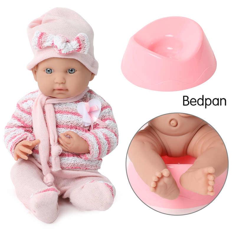 16 Inch Realistische Reborn Doll 40Cm Siliconen Bebe Body Trui Waterdichte Simulatie Pasgeboren Fopspeen Chain Set Voor Speelgoed Kinderen