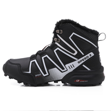 Mens Boots Snow-Shoes Travel Non-Slip-Rubber Winter Ankle with Fur Sneakers Hombre