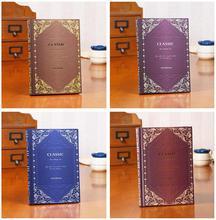 Cuaderno de diario Vintage A5, grande, clásico, real, grande, planificador, libros de memoria, regalo de cumpleaños, elegante