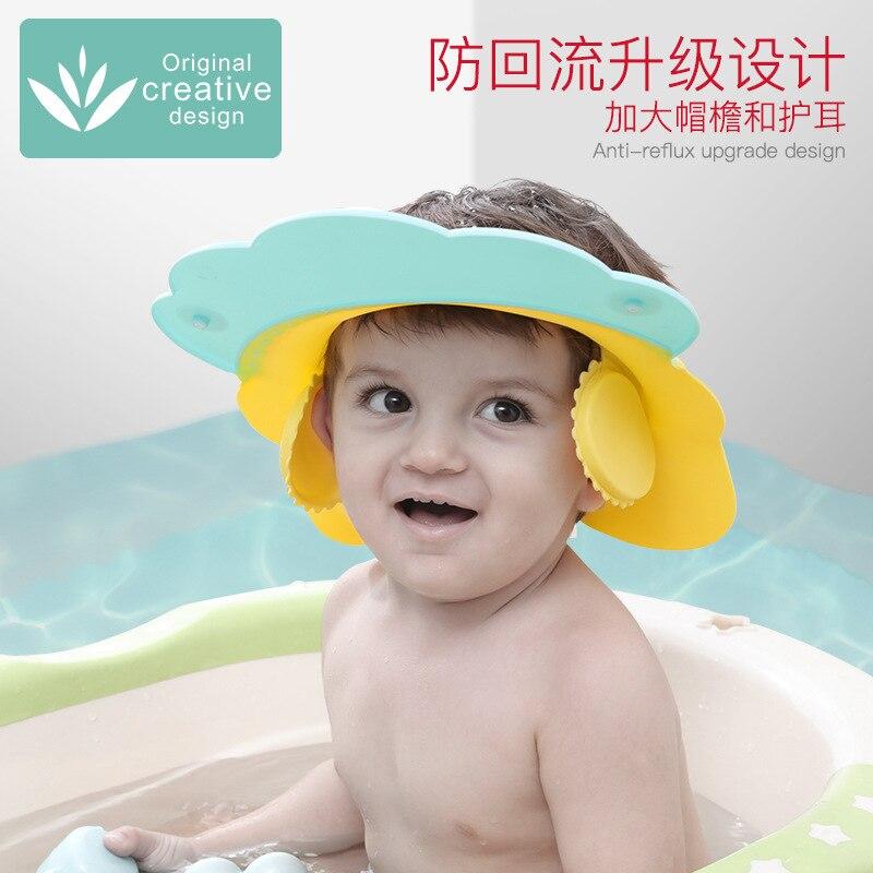 Baby Silica Gel Shower Cap Waterproof Shampoo Useful Product Earmuff Children Bath Cap Infant Shower Cap Shampoo Cap Adjustable