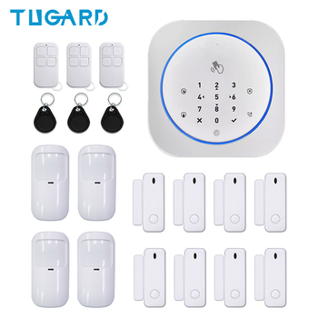 433MHz Wireless GSM Alarm System Home Security Burglar Alarm Host Support iOS&Android System Automatic Alarm цена 2017