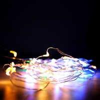 Luz Da Corda do DIODO EMISSOR de Cortiça 1m 2m 3m Tira o fio de Cobre linha de Garrafa de presente de Casamento de conto de fadas partido luzes da decoração Do Feriado