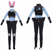 17 piece set Police Officer Cosplay Sexy Uniform Cosplay Halloween Party Christmas Event Costume Rabbit Costume with Ears