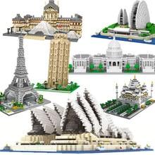Bloques de construcción de la Torre Eiffel Big Ben para niños, juguete de construcción con ladrillos de la Torre Eiffel de Londres, el Capitolio de la Opera de Sidney, Taj Mahal