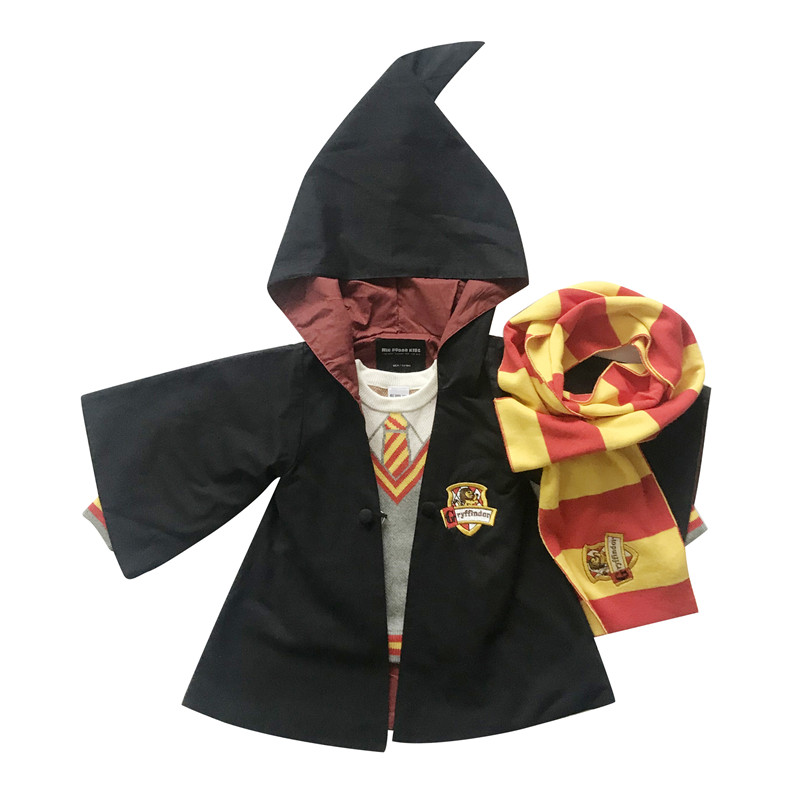 Tonytaobaby Autumn and Winter Dresses New Kids' Children's Wizard Christmas Outfit  Kids Clothes coat 4