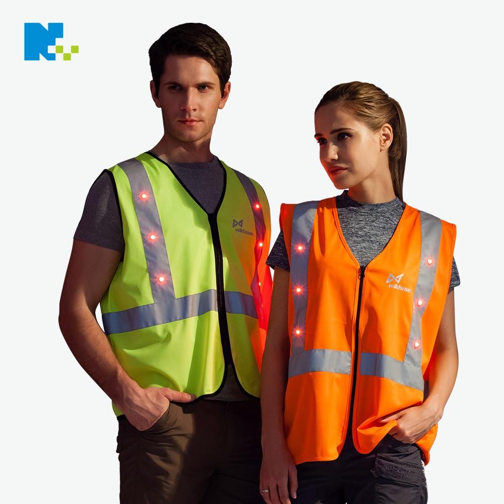 Customizable LED Double Warning Safety Reflective Vest Outdoor Work Site Construction Shining Waistcoat