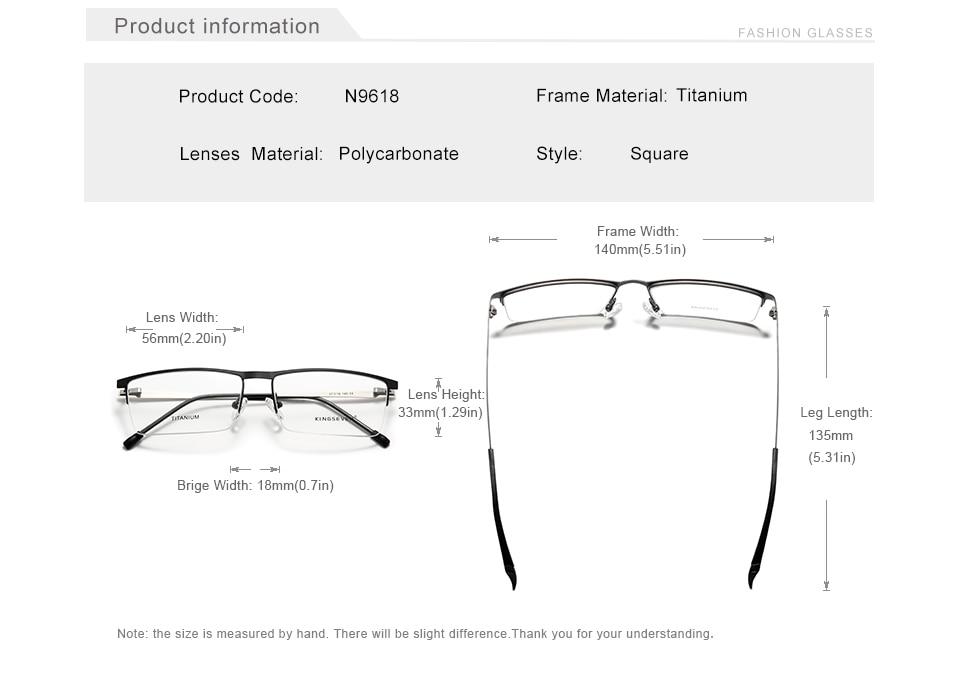 KINGSEVEN 2020 Titanium Alloy Optical Glasses Frame Men 2020 Square Myopia Prescription Eyeglasses Male Metal Eyewear