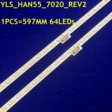 LED Bande 64leds Pour Sony Sharp 55 KD 55X8500D YLS_HAN55_7020_REV2 YLS_HRN55_7020_V1.5 E162061 SYV5541 XBR 55X850C KD 55X8508C