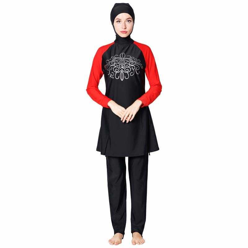 Shehang Nữ Burkinis Đi Biển Bao Bọc Toàn Hijab Bơi Khiêm Tốn Đồ Bơi Hồi Giáo Bơi Mặc Hồi Giáo Đồ Bơi