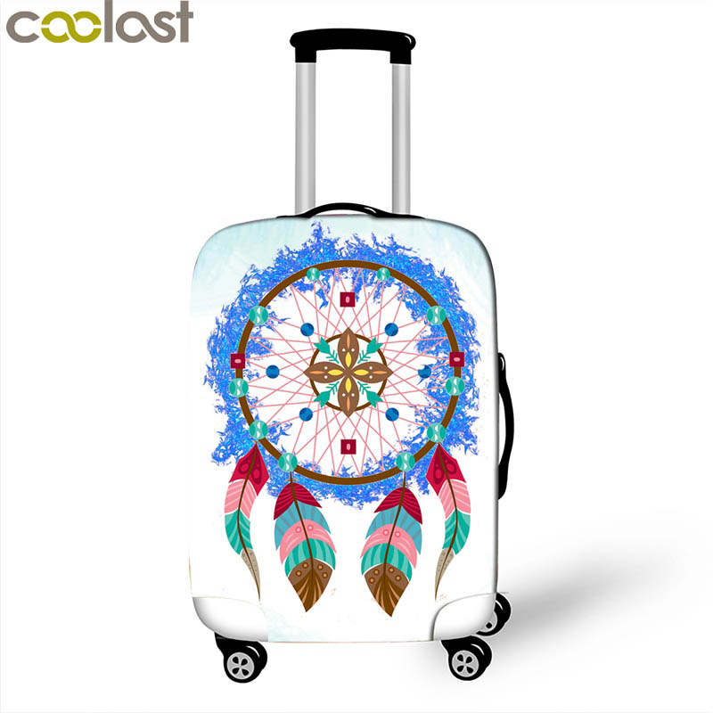 Dreamcatcher Suitcase Covers 3D Dust-proof Luggage Protective Cover For Girls Valise Bagages Roulettes 70cm Travel Accessories
