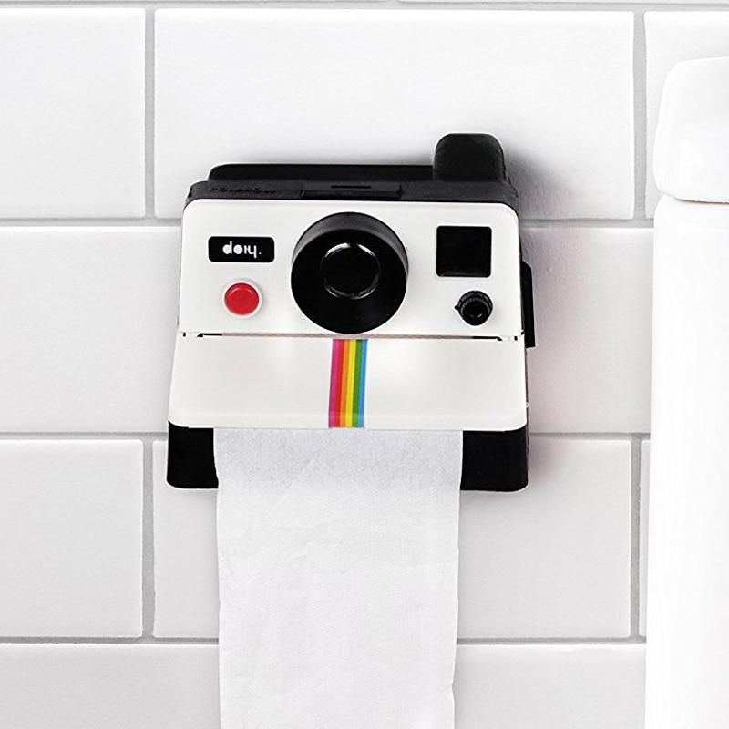 WC Tissue Box Creative Toilet Roll Camera Paper Holder Box Bathroom Retro Decor Paper Napkins