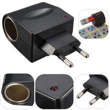цена на Universal Car Cigarette Lighter Socket Splitter Plug Mini AC Wall Power 220V To DC 12V Cigarette Lighter Adapter Converter