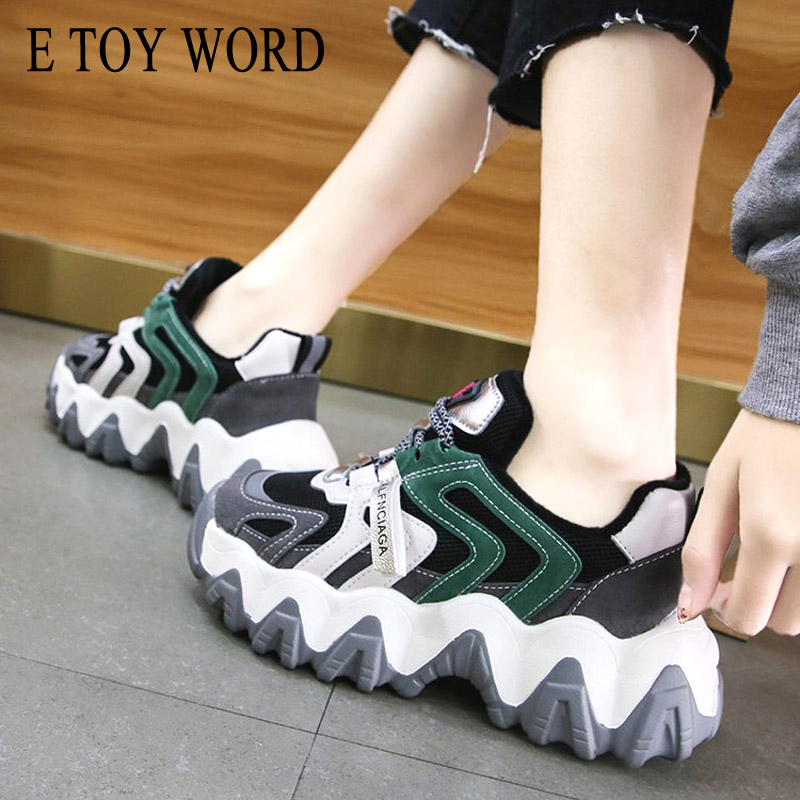US $19.99 35% OFF|E TOY WORD Thick bottom plus velvet Daddy shoes women 2019 autumn winter new wild ladies Platform sports casual shoes woman on