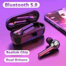 TWS Pro 무선 헤드폰 Xiaomi 9S Redmi Note 8 Umidigi F2 용 듀얼 드라이버 Bluetooth 이어폰 무선 이어폰 헤드셋