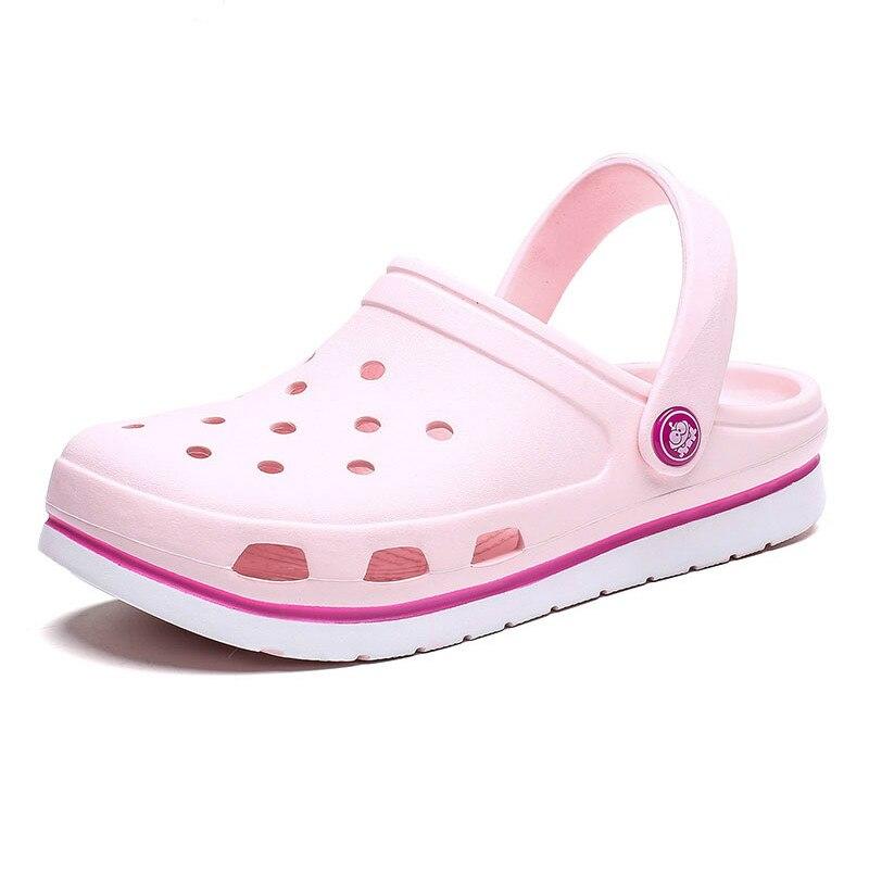 2020 Summer Shoes Woman Ladies Beach Women Flat Sandals Rubber Clogs Female Eva Sandalias Unisex Hole Shoes Hospital Shoe Sandle