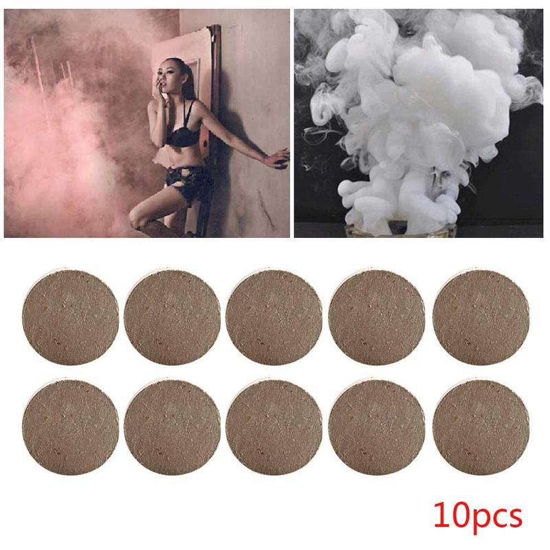 10Pcs/set Smoke Cake White Smoke Effect Photography Aid Magic Tricks Toy Halloween Party Spray Supplies Smoke Props Fog Magic