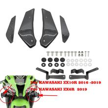 Motorcycle Aerodynamic Wing Set Fairing Side Panel ABS Plastic Cowling For Kawasaki ZX10R ZX6R 2011 2012 2013 - 2017 2018 2019