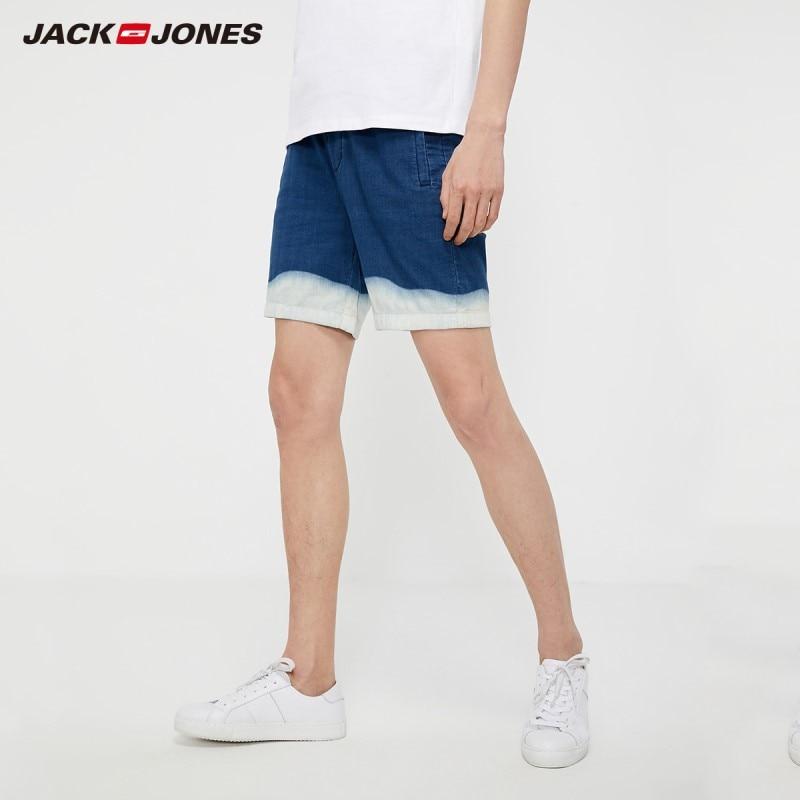 JackJones Men's Loose Fit Sports Casual Gradient Denim Shorts| 219215520